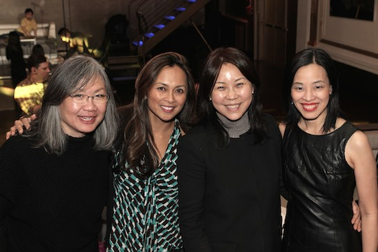 June Jee, Ernabel DeMillo, Kyung Yoon and Lia Chang at the #FreshOffTheBoat Viewing Party at The Circle NYC on February 4, 2015. Photo by GK