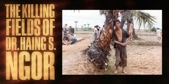 "PHOTO: Dr. Haing S. Ngor on location for ""The Killing Fields."" Courtesy the Dr. Haing S. Ngor Archive"