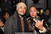 Randall Park and Eddie Huang at the #FreshOffTheBoat Viewing Party at The Circle NYC on February 4, 2015. Photo by Lia Chang