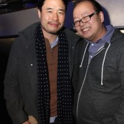 Randall Park and Jeff Yang #FreshOffTheBoat Viewing Party at The Circle NYC on February 4, 2015. Photo by Lia Chang