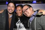 Randall Park, Maria Ho-Burge and Jeff Yang at the #FreshOffTheBoat Viewing Party at The Circle NYC on February 4, 2015. Photo by Lia Chang
