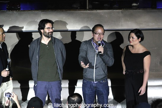 Richard Lui, Greg Pak, Jeff Yang and Erin Quill during the talkback at the #FreshOffTheBoat Viewing Party at The Circle NYC on February 4, 2015. Photo by Lia Chang