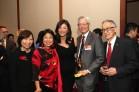 Sandy Leung, Alice Young, Juju Chang, Parkin Lee and Henry Moritsugu at the Asian American Legal Defense and Education Fund's lunar new year gala at Pier Sixty at Chelsea Piers in New York on February 23, 2015. Photo by Lia Chang