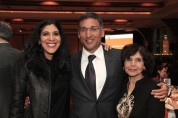 2015 Justice in Action honoree Neal Katyal with his sister Sonia Katyal and his mother Pratibha Katyal Malhotra at the Asian American Legal Defense and Education Fund's lunar new year gala at Pier Sixty at Chelsea Piers in New York on February 23, 2015. Photo by Lia Chang