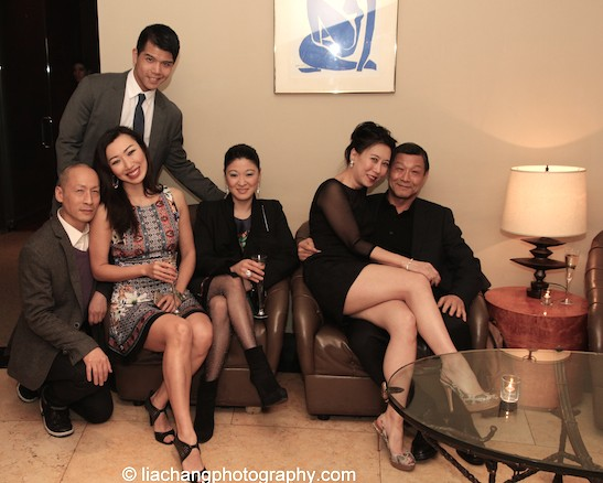 The elegant World of Extreme Happiness cast members Telly Leung, Francis Jue, Jo Mei, Jennifer Lim, Sue Jin Song and James Saito. Photo by Lia Chang