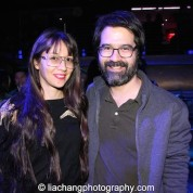 Ursula Liang and Greg Pak at the #FreshOffTheBoat Viewing Party at The Circle NYC on February 4, 2015. Photo by Lia Chang