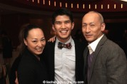 Yuki Ozeki and Christopher Vo and Francis Jue. The trio appeared in the North Shore Music Theatre's production of Miss Saigon. Photo by Lia Chang