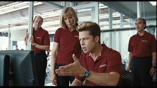 Brad Pitt, Frances McDormand, Raul Aranas, Richard Jenkins in Burn After Reading. Copyright: © 2008 Universal Studios