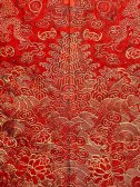 Festival robe (detail), 19th century Qing dynasty, Daoguang (1821–50)–Xianfeng (1851–61) period China Silk, metallic thread The Metropolitan Museum of Art, New York, Anonymous Gift, 1944 (44.122.2) Photography © Platon