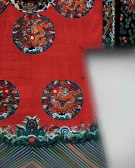 Court robe (detail), 19th century Qing dynasty (1644–1911) China Silk and metallic-thread tapestry (kesi) with painted details The Metropolitan Museum of Art, New York, Gift of Ellen Peckham, 2011 (2011.433.2) Photography © Platon