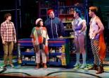 Matt Doyle, Ann Harada, Tom Alan Robbins, Grace McLean, and Andrew Call in Vineyard Theatre's Brooklynite. (© Carol Rosegg)