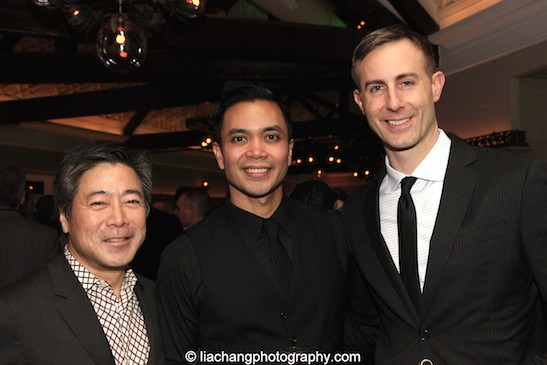 Jon Nakagawa,Lincoln Center's Director of Contemporary Programming, Jose Llana and his partner, Erik Rose. Photo by Lia Chang