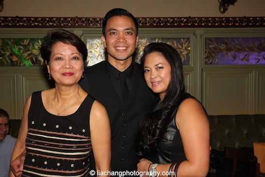 Jose Llana with his mother Regina Newport and his sister Patricia Llana at Tavern on the Green in New York on March 12, 2015. Photo by Lia Chang