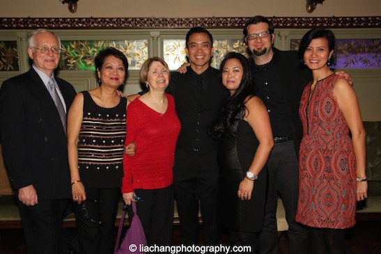 Jose Llana and his family at Tavern on the Green in New York on March 12, 2015. Photo by Lia Chang