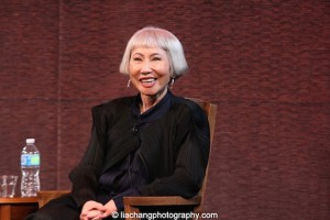 Amy Tan at the New-York Historical Society in New York on March 24, 2015. Photo by Lia Chang