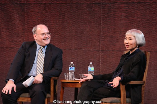 Ken Smith and Amy Tan at the New-York Historical Society in New York on March 24, 2015. Photo by Lia Chang