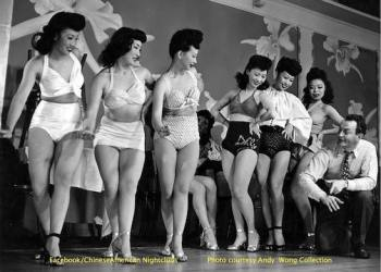 Arthur Dong's Forbidden City U.S.A. Choreographer Walt Biggerstaff with the chorus of Andy Wong's Chinese Skyroom, the first Chinatown nightclub in the world (San Francisco, 1937)! Photo courtesy of the Andy Wong Collection.
