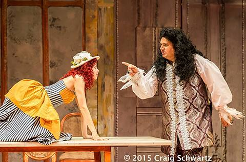 Angela Sauer (Suzanne) and Andrew Ross Wynn (Count Almaviva). © Photo by Craig Schwartz 2015