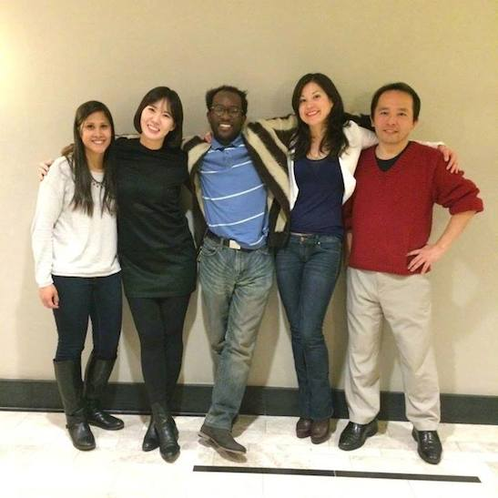 The Asian American Film Lab Management: Huseina Sulaimanee (Treasurer), Youn Jung Kim The 72 Hour Film Shootout Coordinator), Daryl King (Secretary), Jennifer Betit Yen (President), and Nick Sakai (Industry Spotlight Coordinator). Photo by Lia Chang