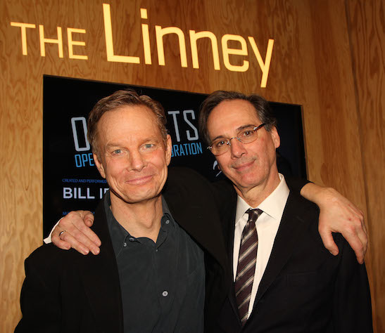 Bill Irwin and David Shiner at the opening night party of OLD HATS at The Pershing Square Signature Center in New York on March 4, 2013. Photo by Lia Chang