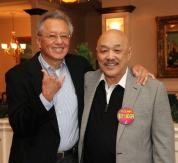 Childhood pals Curtiss Chan and Russell Chang at his 70th birthday party on December 15, 2012. Photo by Lia Chang