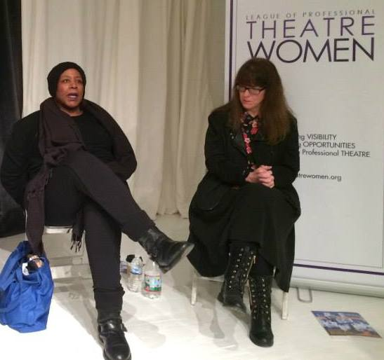 Dael Orlandersmith and Caridad Svich. Photo by Lia Chang