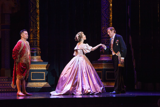 Alan Ariano,  Rachel York  and Ted Deasy in Dallas Summer Musicals New Production of Rodgers & Hammerstein's THE KING AND I. Photo by  Chris Waits