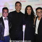 Enrico Rodriguez, Jose Llana, Jaygee Macapugay, Jeigh Madjus at the Lincoln Center American Songbook afterparty at Tavern on the Green in New York on March 12, 2015. Photo by Lia Chang
