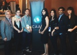 CAAM Executive Director Stephen Gong with 2015 CAAMfest winners Elizabeth Lo, Tony Nguyen, Puja Maewal, Ravi Kapoor and Ursula Liang. Photo courtesy of CAAM