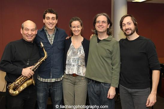 Jack Bashkow, Simon Kafka, Kimberly Grigsby, Pete Donovan and Kevin Garcia. Photo by Lia Chang