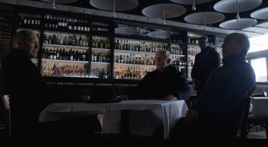 James Spader, Lance Henriksen and Raul Aranas in The Blacklist.