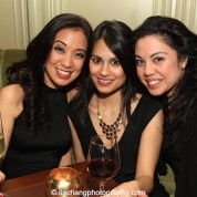 Jaygee Macapugay, Debralee Daco, Maria-Christina Oliveras at the Lincoln Center American Songbook afterparty at Tavern on the Green in New York on March 12, 2015. Photo by Lia Chang