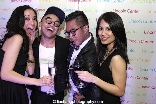 Jaygee Macapugay, Jeigh Madjus, Enrico Rodriguez and Debralee Daco at the Lincoln Center American Songbook afterparty at Tavern on the Green in New York on March 12, 2015. Photo by Lia Chang.