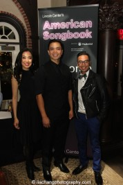 Jaygee Macapugay, Jose Llana and Enrico Rodriguez at the Lincoln Center American Songbook afterparty at Tavern on the Green in New York on March 12, 2015. Photo by Lia Chang