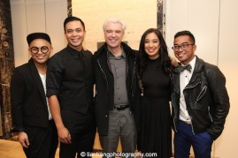 Jeigh Madjus, Jose Llana, David Byrne, Jaygee Macapugay, Enrico Rodriguez. Photo by Lia Chang