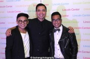Jeigh Madjus, Jose Llana, Enrico Rodriguez at the Lincoln Center American Songbook afterparty at Tavern on the Green in New York on March 12, 2015. Photo by Lia Chang