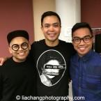 Jeigh Madjus, Jose Llana and Enrico Rodriguez. Photo by Lia Chang