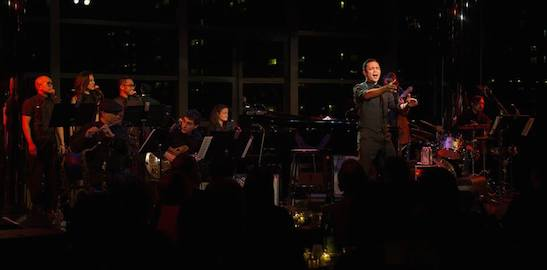 Jeigh Madjus, Jaygee Macapugay, Enrico Rodriguez, Simon Kafka, Jose Llana, Pete Donovan and Kevin Garcia in the Stanley H. Kaplan Penthouse in New York on March 12, 2015. Photo by Kevin Yatarola