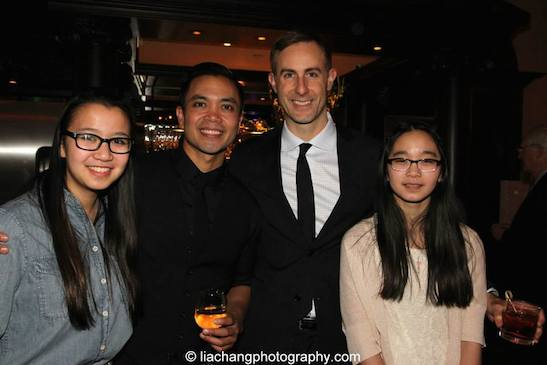 Jose Llana, his partner Erik Rose and Erik's sisters. Photo by Lia Chang