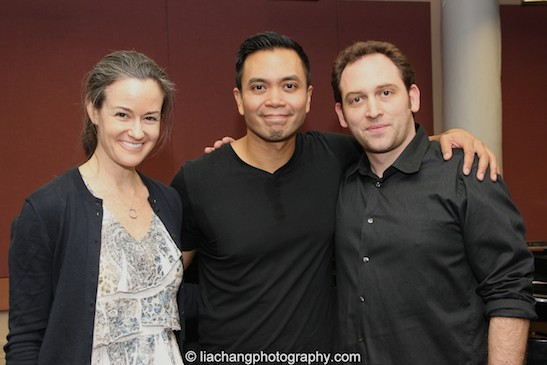 Kimberly Grigsby, Jose Llana and Matt Stine. Photo by Lia Chang