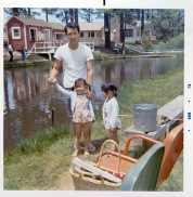 Lia Chang with her sister Tami and her dad, Russell Chang at Lake Tahoe in 1970.