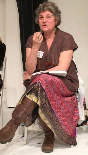LPTW Co-President/Dramaturg/Playwright/Moderator Maxine Kern. Photo by Lia Chang