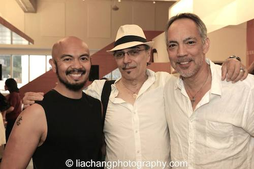 Mel Maghuyop, Raul Aranas and Thom Sesma, have all portrayed The King in The King and I and The Engineer in Miss Saigon -after a performance NAAP's Oliver! at The Romulus Linney Courtyard Theatre inside The Pershing Square Signature Center in New York on June 7, 2014. Photo by Lia Chang
