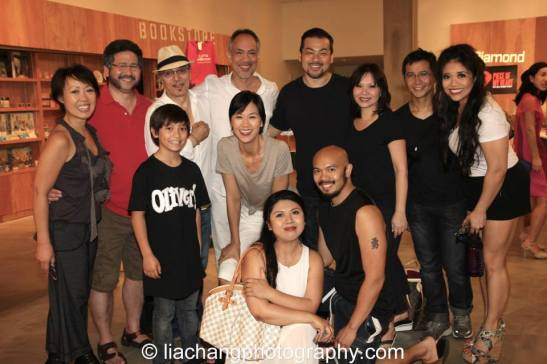 Back row-Nina Zoie Lam, Scott Watanabe, Raul Aranas, Thom Sesma, Dave Shih, Fay Ann Lee, Eric Bondoc, Anthea Neri; Front row - Bonale Zohn Fambrini, Cindy Cheung, Loresa Lancetta, Mel Maghuyop after a performance NAAP's Oliver! at The Romulus Linney Courtyard Theatre inside The Pershing Square Signature Center in New York on June 7, 2014. Photo by Lia Chang