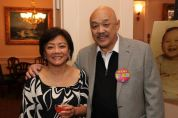 Pauline Chang and Russell Chang at his 70th birthday party on December 15, 2012. Photo by Lia Chang