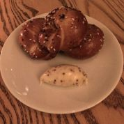 Pretzel Bread with Mustard Butter