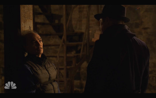 Raul Aranas and James Spader in The Blacklist