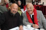 Cousins Sam Ahtye and Russell Chang at his 70th birthday party on December 15, 2012. Photo by Lia Chang