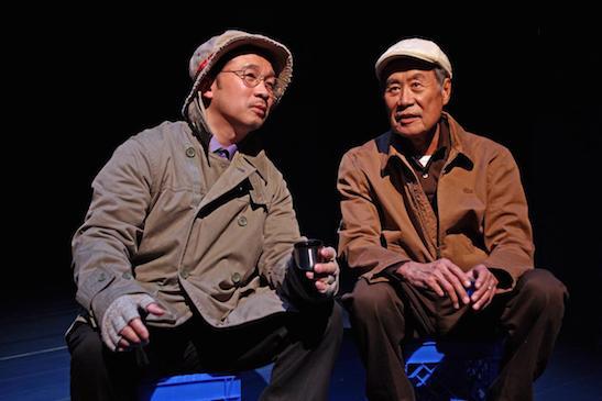 "Eddie Mui, left, and Sab Shimono in ""tokyo fish story."" DEBORA ROBINSON, SOUTH COAST REPERTORY"
