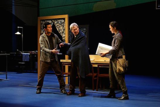 "From left, Ryun Yu, Sab Shimono and Jully Lee in ""tokyo fish story."" DEBORA ROBINSON, SOUTH COAST REPERTORY"